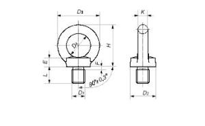 Рым-Болт ГОСТ 4751-73 (DIN 580)